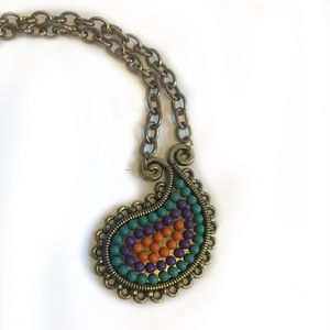 Colorful pendant necklace from boutique in Spain